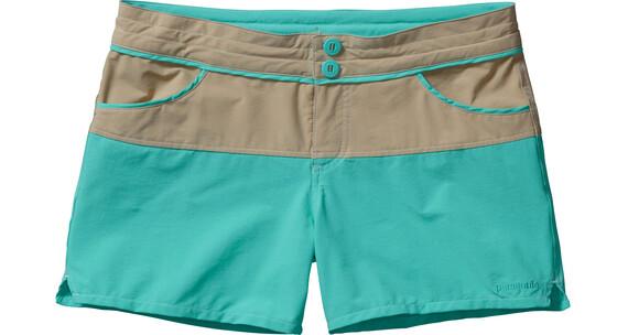 Patagonia W's Colorblock Stretch Wavefarer Shorts El Cap Khaki